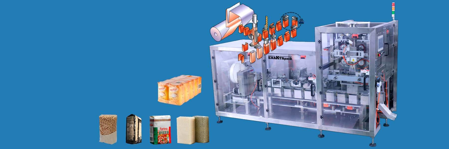 Vertical packaging machine with Carousel